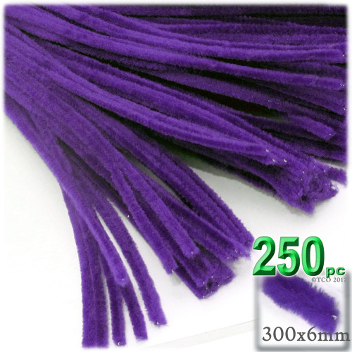 Stems, Polyester, 12-in, 250-pc, Purple
