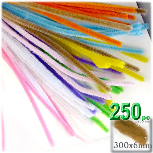 Stems, Polyester, 12-in, 250-pc, Pastel Mix