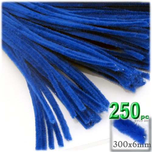 Stems, Polyester, 12-in, 250-pc, Royal Blue