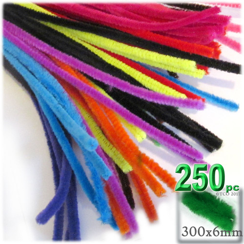 Stems, Polyester, 12-in, 250-pc, Bright Mix