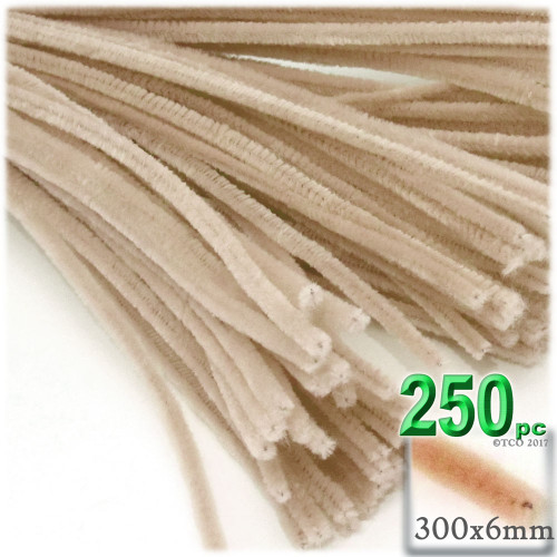 Stems, Polyester, 12-in, 250-pc, Tan