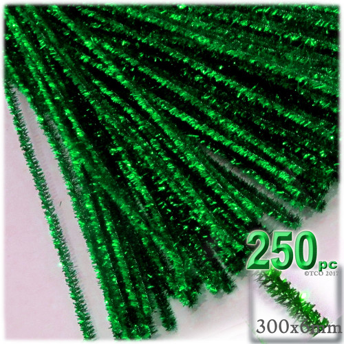 Stems, Sparkly, 12-in, 250-pc, Emerald Green