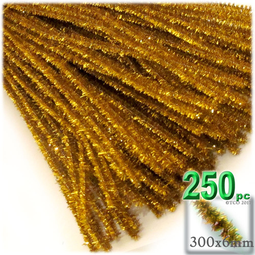 Stems, Sparkly, 12-in, 250-pc, Gold
