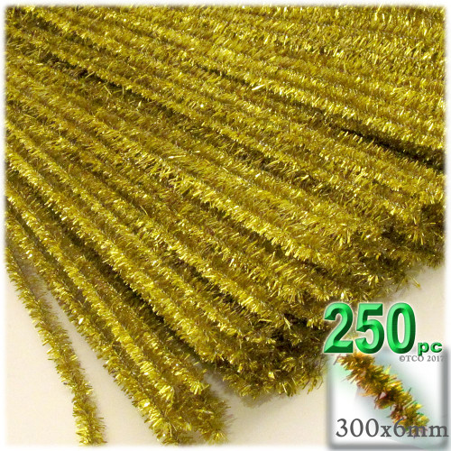 Stems, Sparkly, 12-in, 250-pc, Light Gold