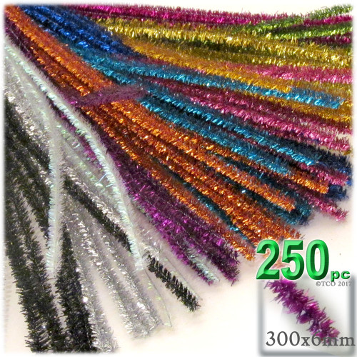Stems, Sparkly, 12-in, 250-pc, Mixed Pack