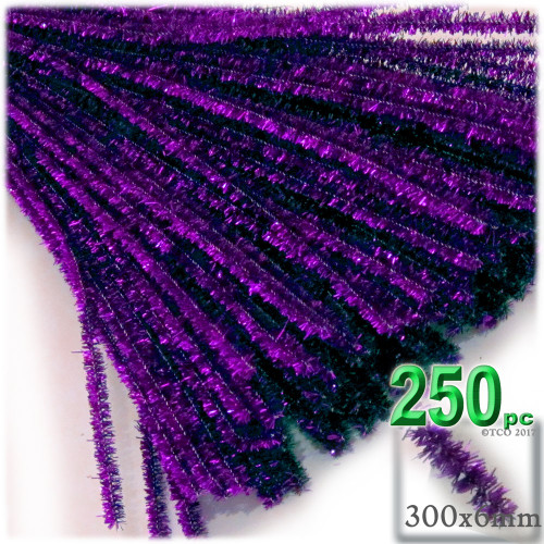 Stems, Sparkly, 12-in, 250-pc, Purple
