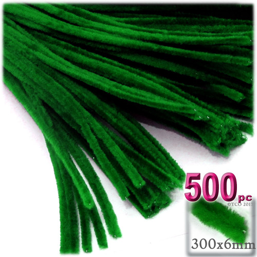 Stems, Polyester, 12-in, 500-pc, Emerald Green