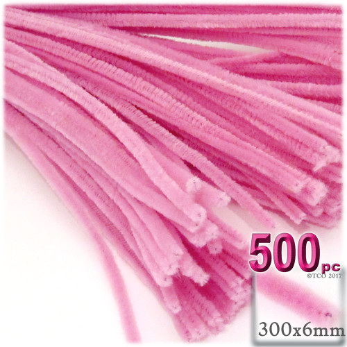 Stems, Polyester, 12-in, 500-pc, Hot Pink