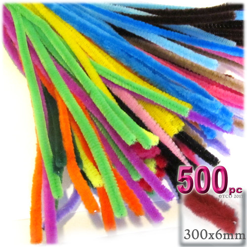 Stems, Polyester, 12-in, 500-pc, Mixed Pack