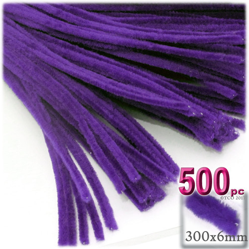 Stems, Polyester, 12-in, 500-pc, Purple