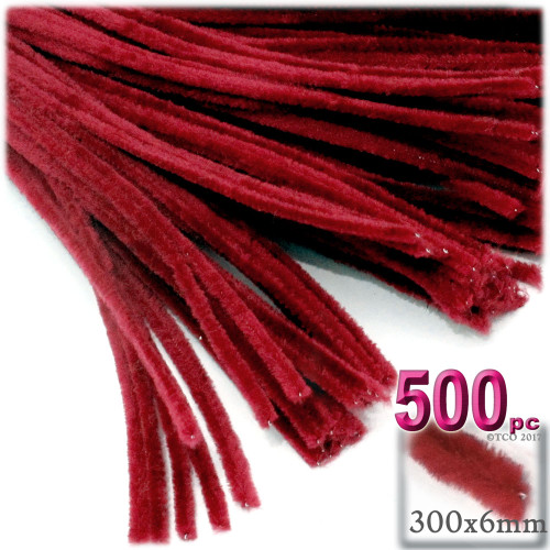 Stems, Polyester, 12-in, 500-pc, Red