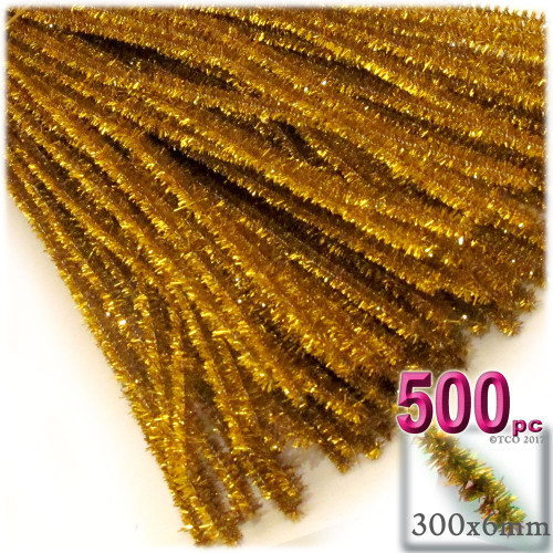Stems, Sparkly, 12-in, 500-pc, Gold