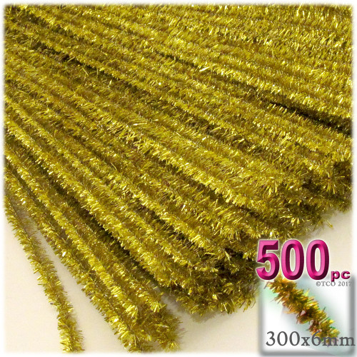 Stems, Sparkly, 12-in, 500-pc, Light Gold