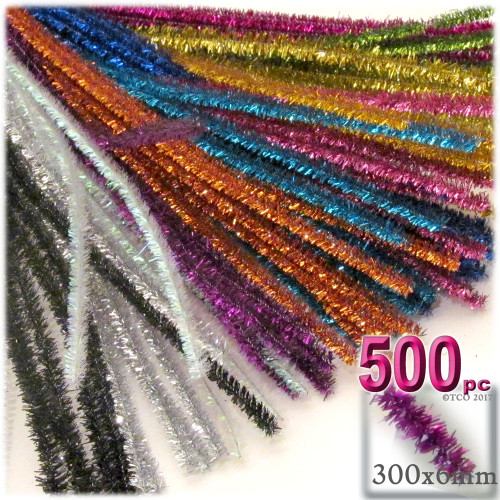 Stems, Sparkly, 12-in, 500-pc, Mixed Pack