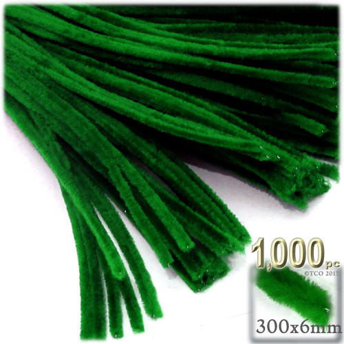 Stems, Polyester, 12-in, 1000-pc, Emerald Green