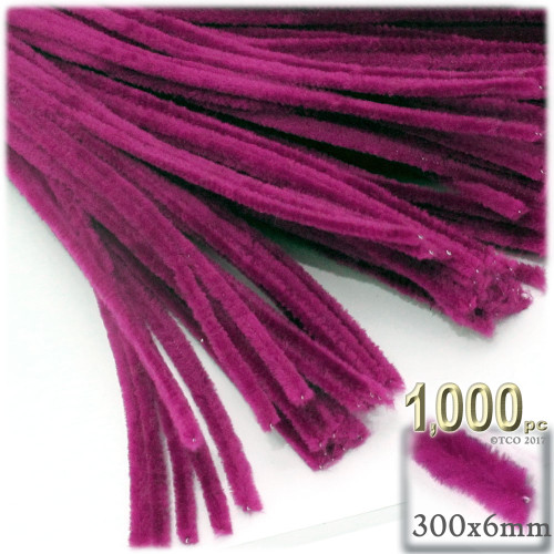 Stems, Polyester, 12-in, 1000-pc, Fuchsia