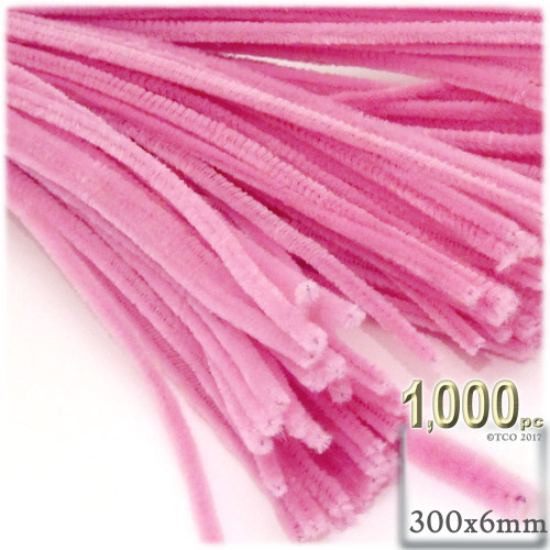 Stems, Polyester, 12-in, 1000-pc, Hot Pink
