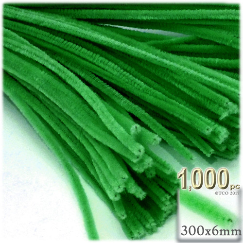 Stems, Polyester, 12-in, 1000-pc, Light Green