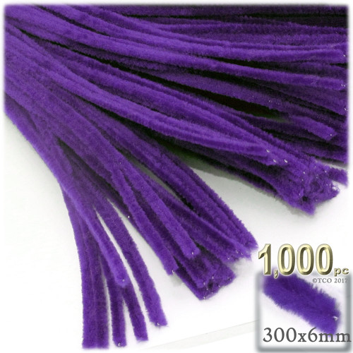 Stems, Polyester, 12-in, 1000-pc, Purple