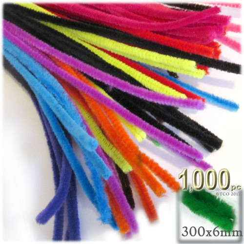 Stems, Polyester, 12-in, 1000-pc, Bright Mix