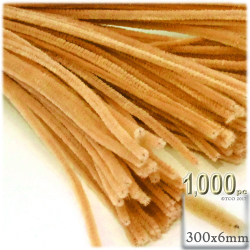 Stems, Polyester, 12-in, 1000-pc, Sun Yellow
