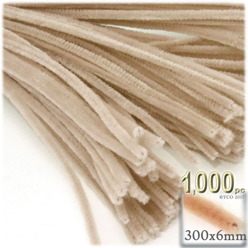 Stems, Polyester, 12-in, 1000-pc, Tan