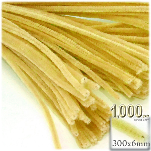 Stems, Polyester, 12-in, 1000-pc, Yellow