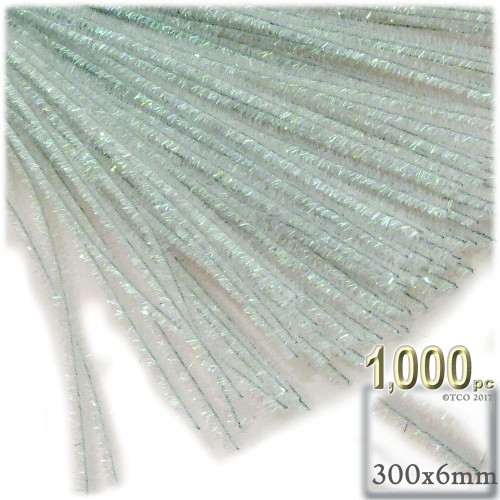 Stems, Sparkly, 12-in, 1000-pc, Clear