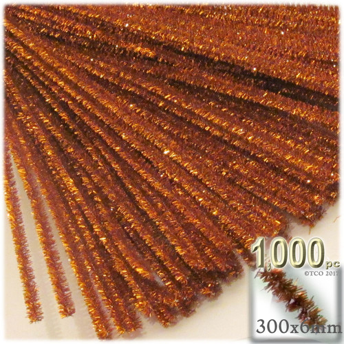 Stems, Sparkly, 12-in, 1000-pc, Copper