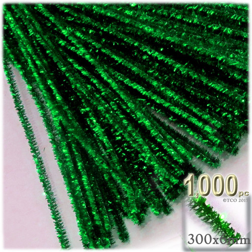 Stems, Sparkly, 12-in, 1000-pc, Emerald Green