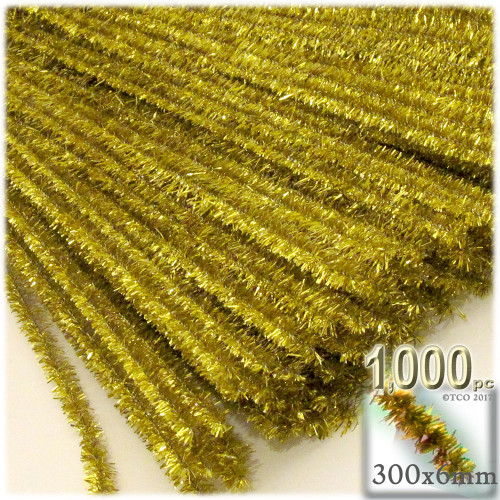 Stems, Sparkly, 12-in, 1000-pc, Light Gold