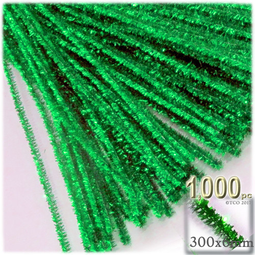 Stems, Sparkly, 12-in, 1000-pc, Light Green