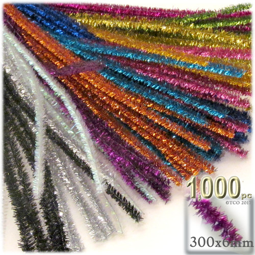 Stems, Sparkly, 12-in, 1000-pc, Mixed Pack