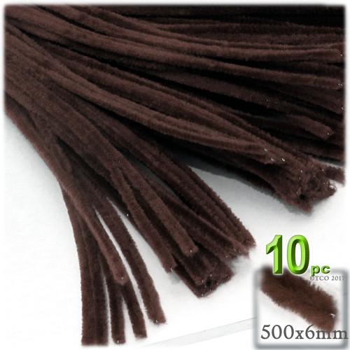 Stems, Polyester, 20-in, 10-pc, Dark Brown