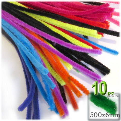 Stems, Polyester, 20-in, 10-pc, Bright Mix