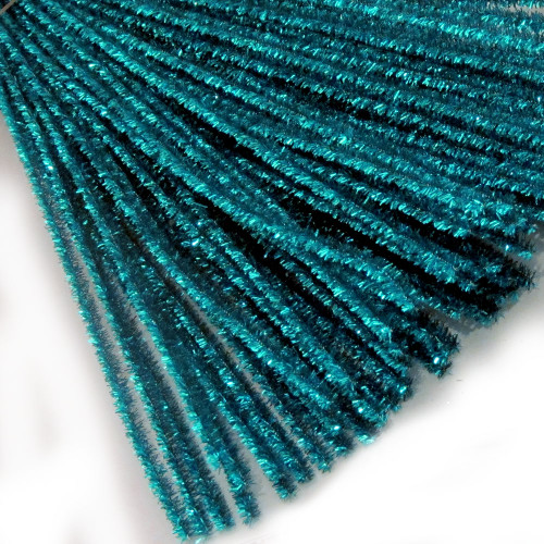 Stems, Sparkly, 20-in, 10-pc, Ocean Blue
