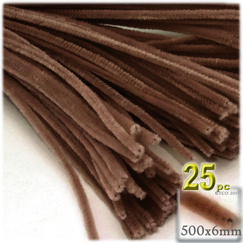 Stems, Polyester, 20-in, 25-pc, Coffee