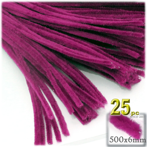 Stems, Polyester, 20-in, 25-pc, Fuchsia
