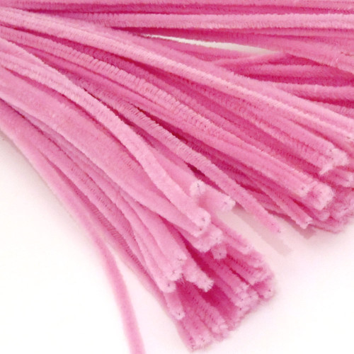 Stems, Polyester, 20-in, 25-pc, Hot Pink