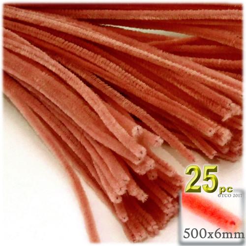Stems, Polyester, 20-in, 25-pc, Orange