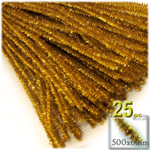 Stems, Sparkly, 20-in, 25-pc, Gold