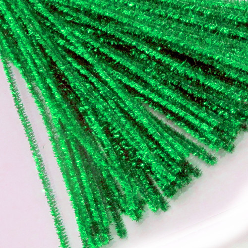 Stems, Sparkly, 20-in, 25-pc, Light Green
