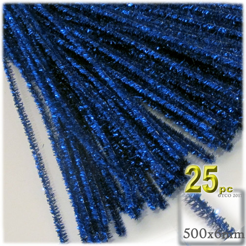 Stems, Sparkly, 20-in, 25-pc, Royal Blue