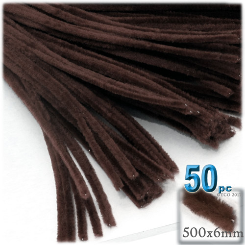 Stems, Polyester, 20-in, 50-pc, Dark Brown