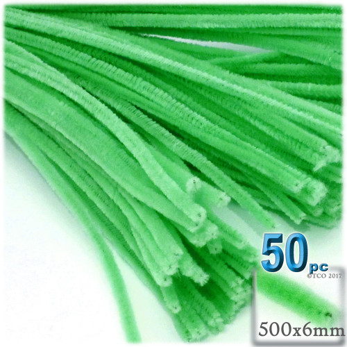 Stems, Polyester, 20-in, 50-pc, Lime Green