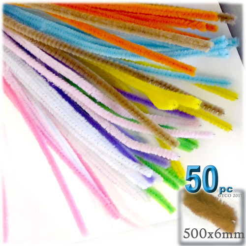 Stems, Polyester, 20-in, 50-pc, Pastel Mix