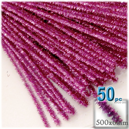 Stems, Sparkly, 20-in, 50-pc, Pink