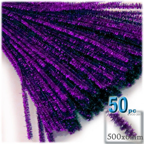 Stems, Sparkly, 20-in, 50-pc, Purple