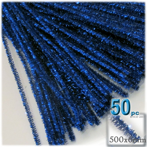 Stems, Sparkly, 20-in, 50-pc, Royal Blue