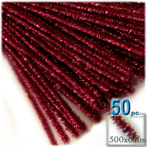 Stems, Sparkly, 20-in, 50-pc, Red